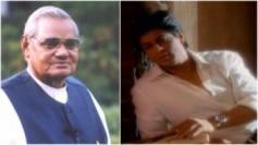 Former Indian Prime Minister Atal Bihari Vajpayee (L) and Shah Rukh Khan in a still from the music video Kya Khoya Kya Paya