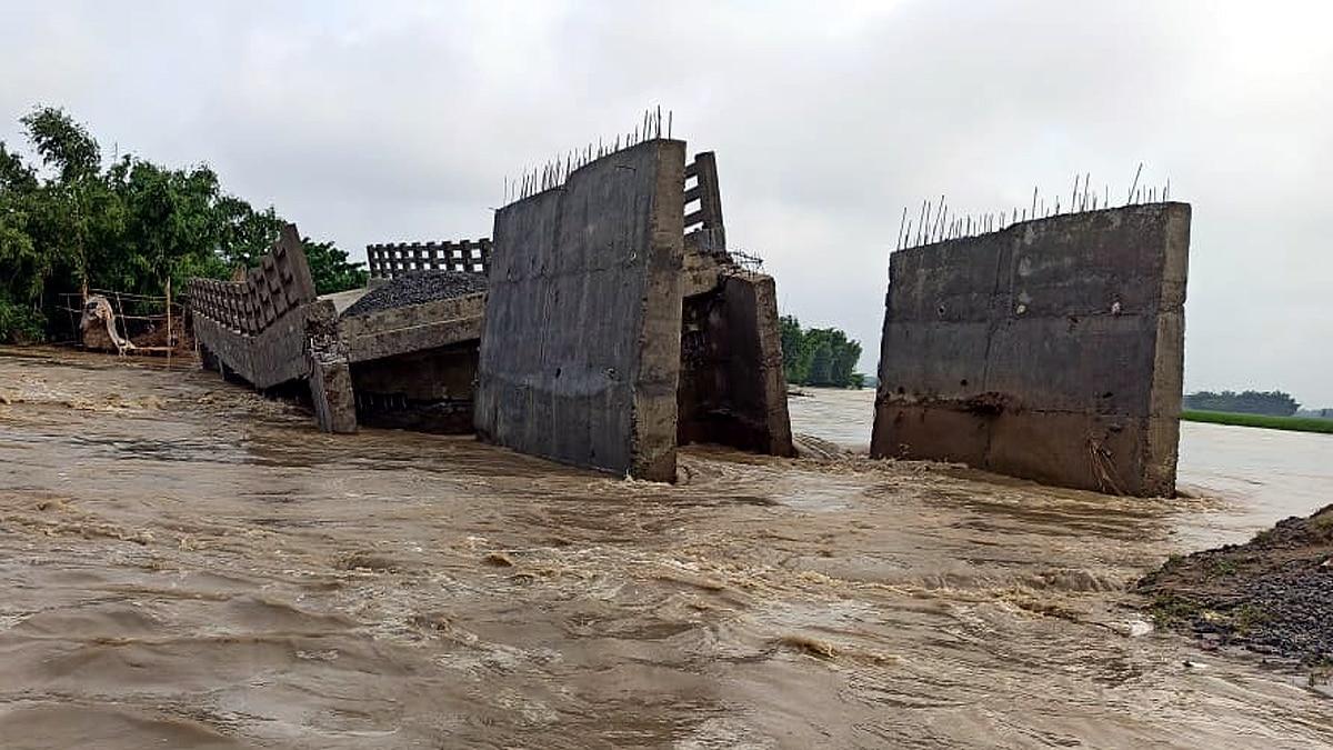 Under Construction New Bridge Collapse in Kishanganj Bihar