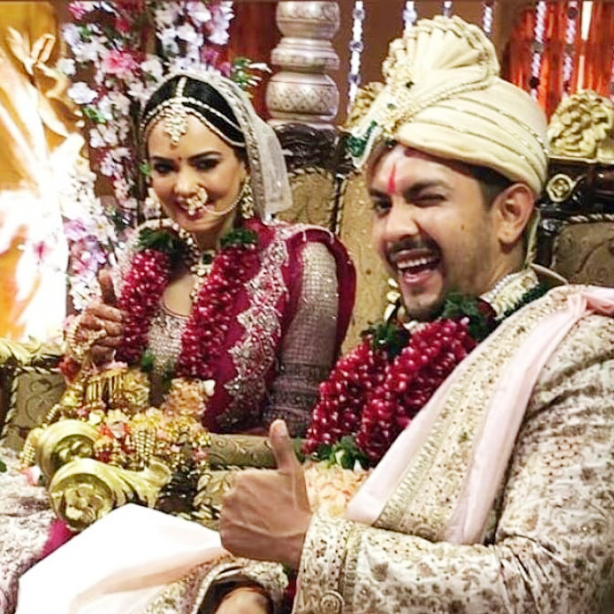 Aditya Narayan wedding photos