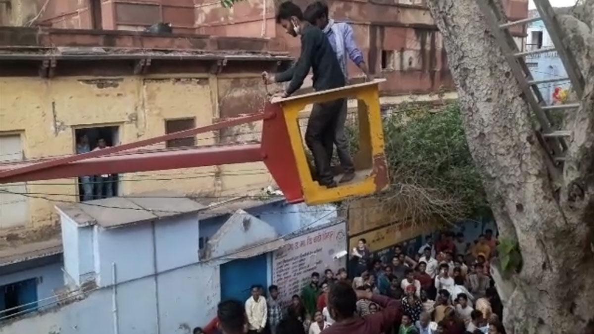 नाराज पत्नी को घर लाने के लिए 50 फीट ऊंचे पेड़ पर चढ़ा युवक