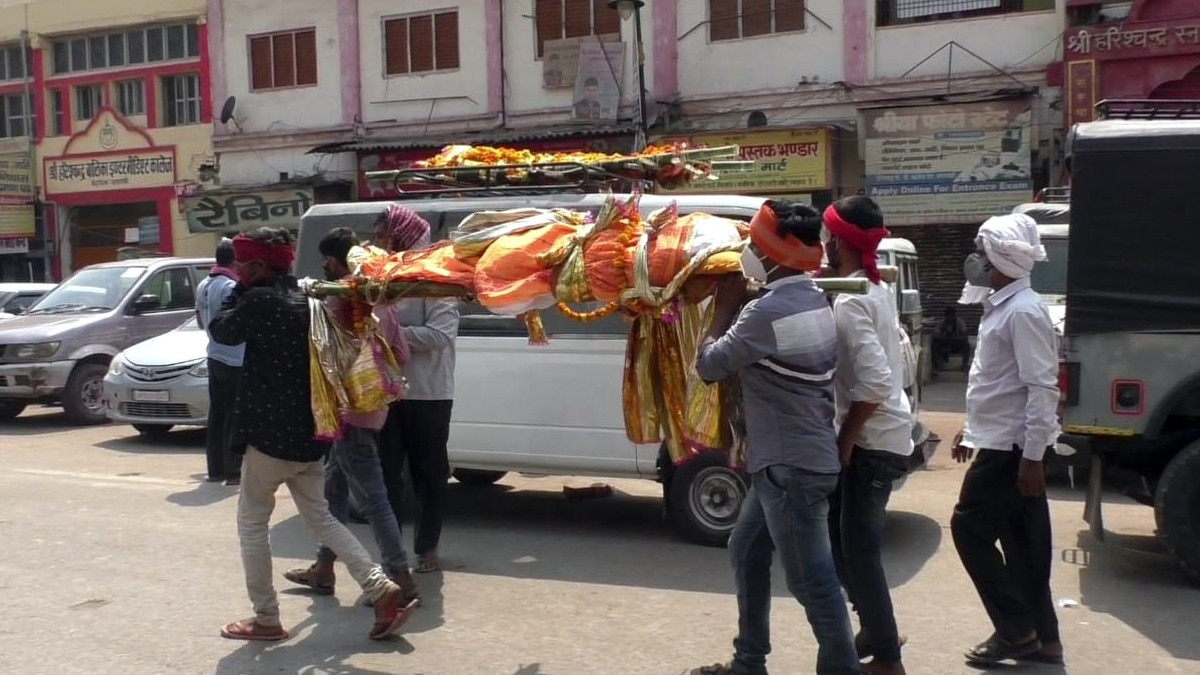 Corona death dead bodies carriers
