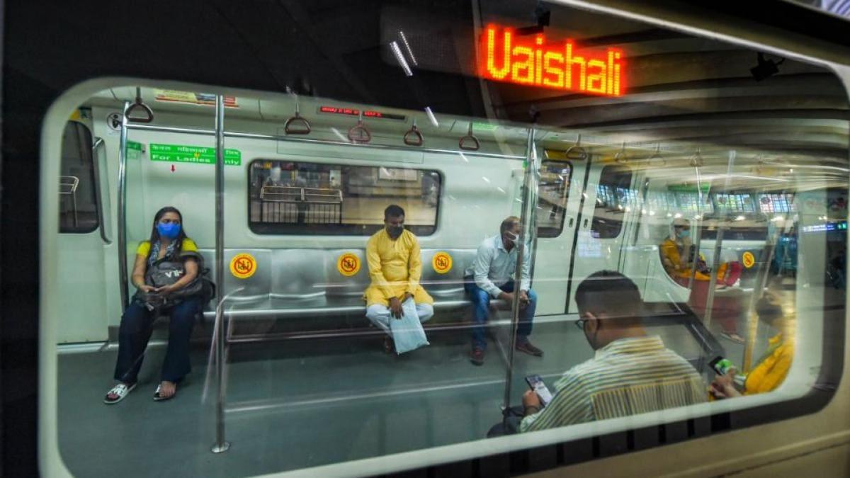 एयरपोर्ट एक्सप्रेस लाइन पर मेट्रो सेवा फिर से शुरू (फाइल फोटो-PTI)