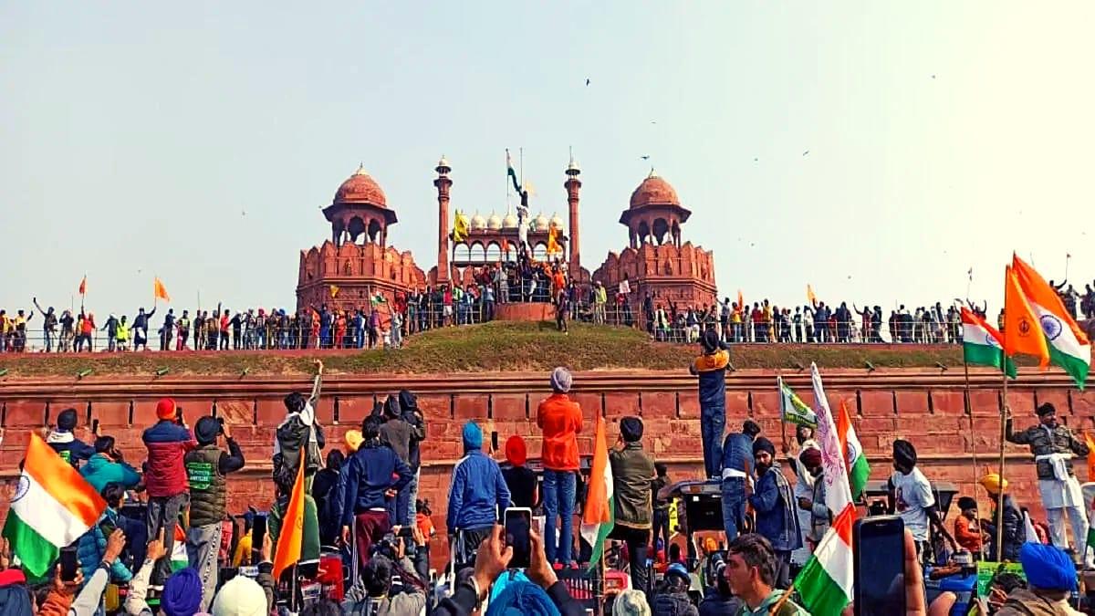 Image result for red fort हिंसा