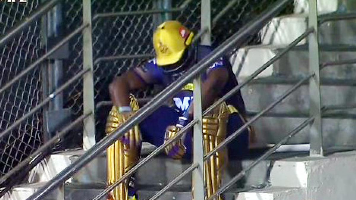 IPL: Russell sat on the stairs after he was out … The heart of fans melted – IPL 2021 Twitter reacts to Andre Russell's disappointed picture after getting out to Sam Curran tspo