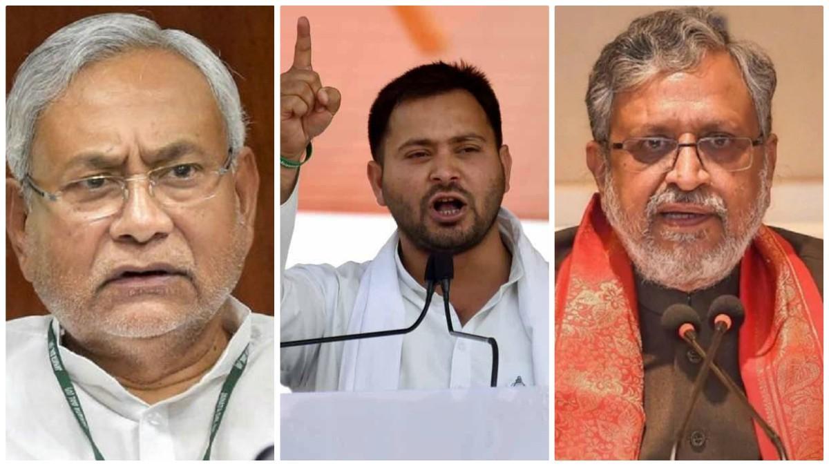 Nitish Kumar, Tejashwi Yadav, Sushil Kumar Modi