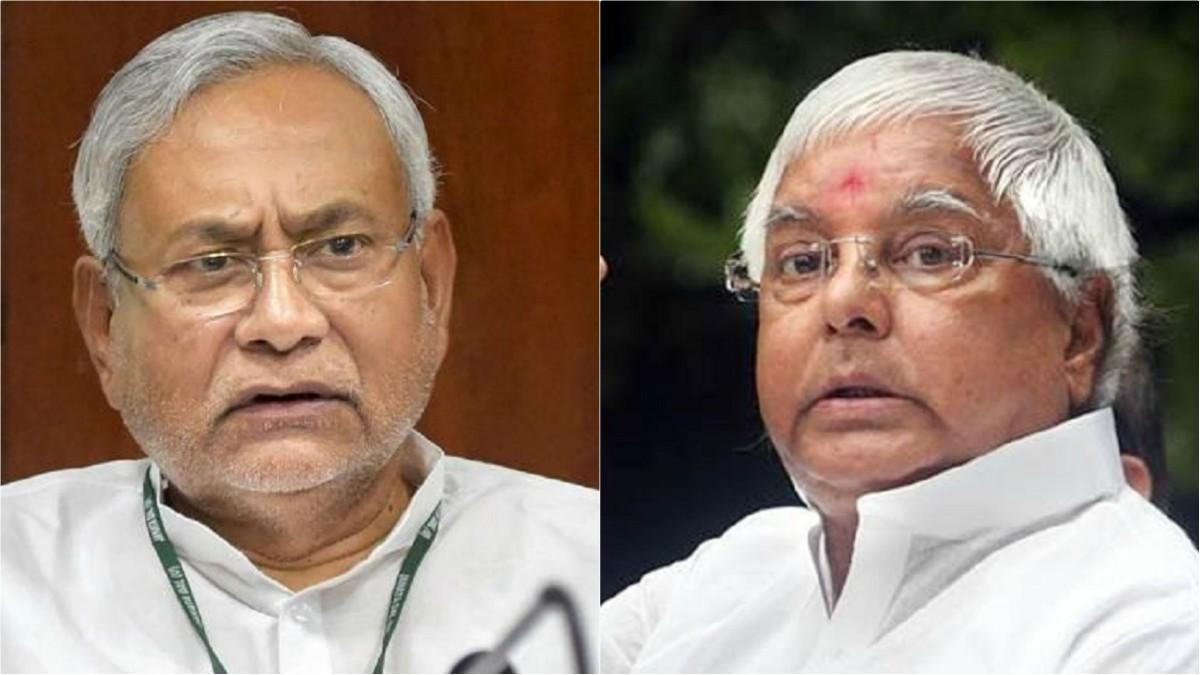 Nitish Kumar and Lalu Yadav (file photo)