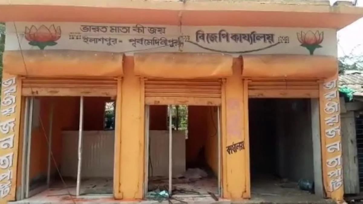 BJP office in Nandigram vandalized
