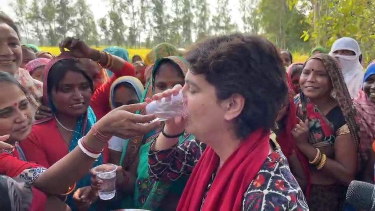 Priyanka Gandhi Vadra (Credit- twitter.com/BupendaMeitei)