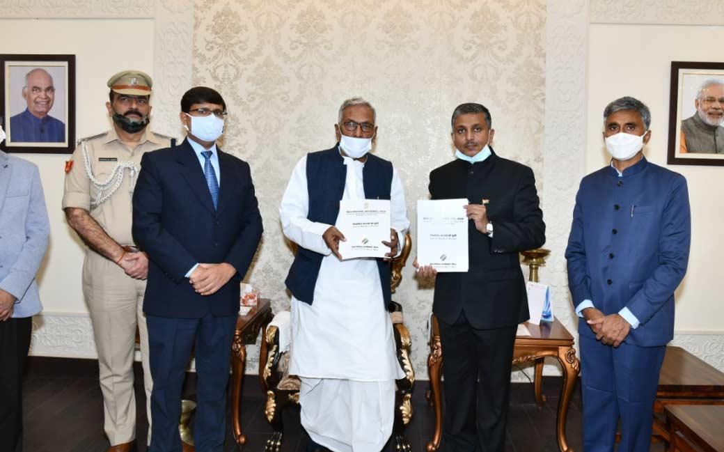 राज्यपाल फागू चौहान को सौंपी गई नए विधायकों की लिस्ट