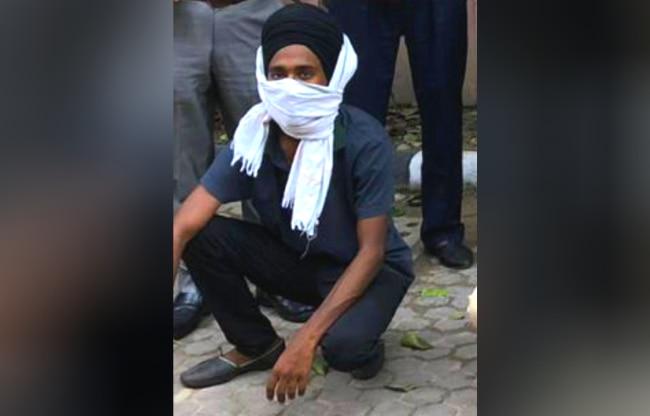 दिल्ली पुलिस की गिरफ्त में लवप्रीत सिंह.