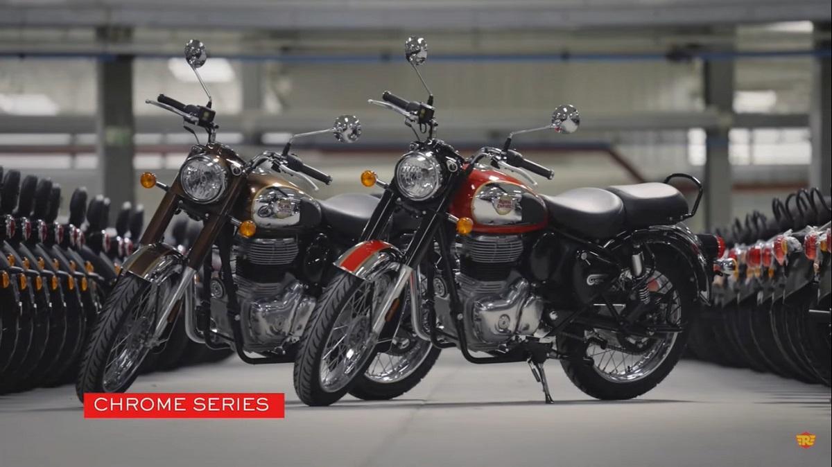नई Royal Enfield Classic 350 Chrome Series