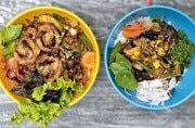 Two ready-made bowls at Poke Bar, Guppy. Photo: Mail Today