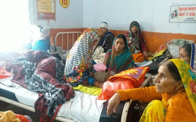 One of the common sights in almost every district hospital here is that of multiple patients suffering from critical diseases being kept in one bed.