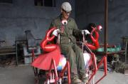 Chinese Farmer builds crab-shaped vehicle, astounding your inner child