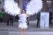 Turning rags into riches! Chinese farmer creates costumes out of scraps