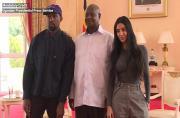 Kimye meet Ugandan President Museveni during Africa trip