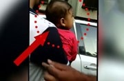 Watch moments before Mumbai traffic police tow away a car with woman and baby
