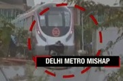 Image of the day: Delhi metro crashes into a wall