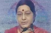 I am 'chinamma' of Telangana, says External Affairs Minister Sushma Swaraj at GEC