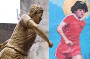 Mural and statue of legendary footballer Maradona unveiled in Buenos Aires