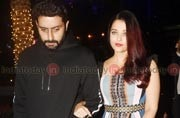 SEE PICS: Abhishek-Aishwarya turn heads with their PDA, enter party hand-in-hand