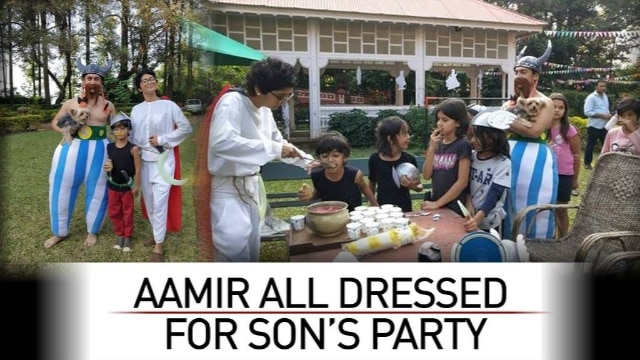 Aamir Khan is giving you new ideas for your kids birthday party and he's a pro at that too