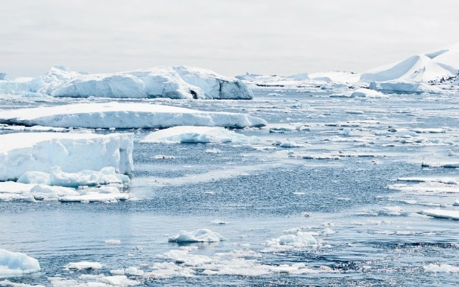 A heat source found in Antractica might be reponsible for ice-melting.
