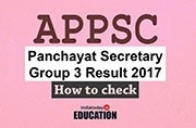 Declared! APPSC Panchayat Secretary Group 3 Result 2017 out at psc.ap.gov.in: How to check