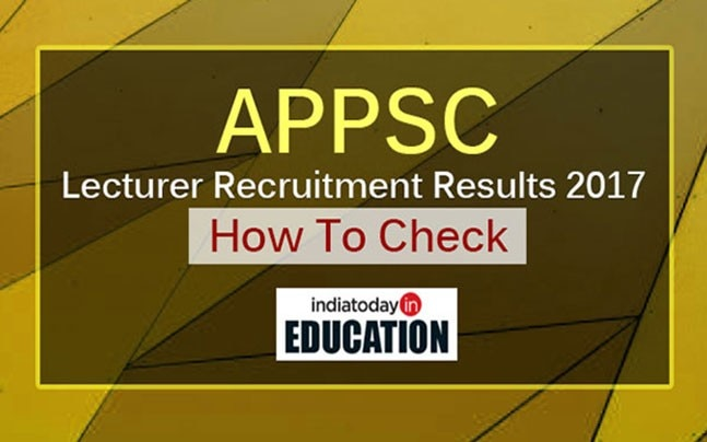 APPSC Lecturer Recruitment Results 2017