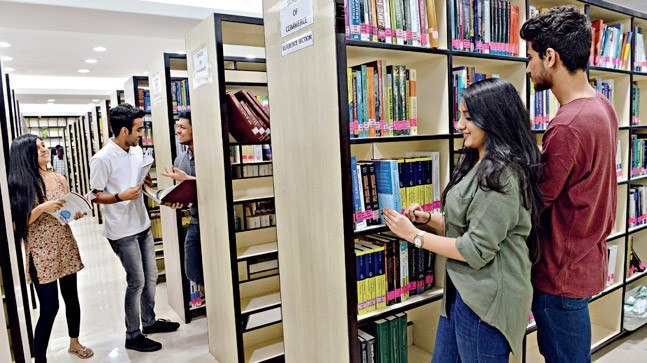 The well-equipped library at Anil Surendra Modi School of Commerce, Mumbai. Photo: Mandar Deodhar