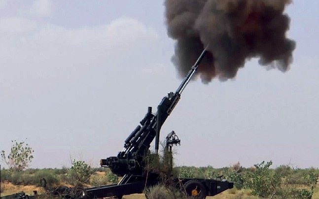 BOOM, BOOM A Tata Power SED-made ATAGS 'G-1' 155 mm howitzer in firing trials in Pokhran