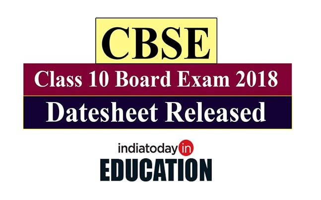CBSE Class 10 Board Exam 2018: Datesheet released at cbse nic in