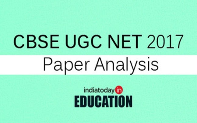 CBSE UGC NET 2017 paper analysis
