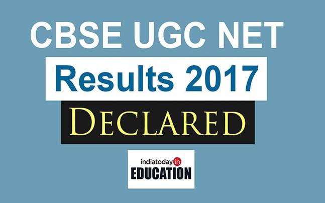 CBSE UGC NET Results 2017