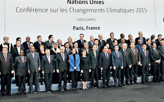 World leaders on the opening day of the World Climate Change Conference 2015 at Le Bourget, Paris. (Photo: Reuters)