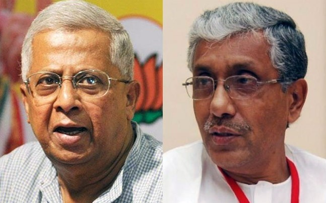 Tathagata Roy and Manik Sarkar. Photo: PTI