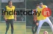 PICS: Ranveer Singh-Ranbir Kapoor show off their football skills. Are you watching this, Deepika?