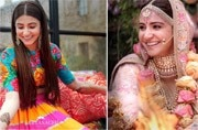 This is what Anushka Sharma wore for her mehendi, engagement and wedding