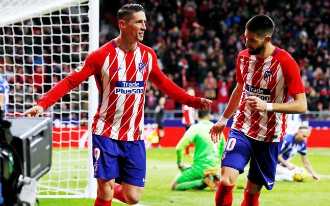 La liga torres goal takes atletico madrid to second spot after reuters photo voltagebd Image collections