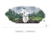 Google doodle celebrates Kannada writer Kuppali Venkatappa Puttappa who penned the Karnataka State Anthem