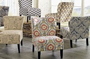 Colourful without being in your face is what sets Ashley Furniture Home Store's new Ravity Accent Chairs apart.