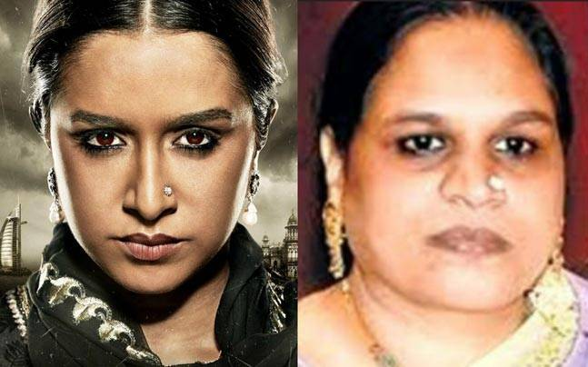 Shraddha Kapoor in the first look of Haseena (L) and Haseena Parkar