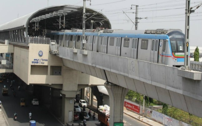 Hyderabad Metro (Photo: Twitter@MinIT_Telangana)