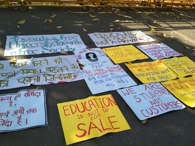 Scholarship protests begin at TISS Hyderabad