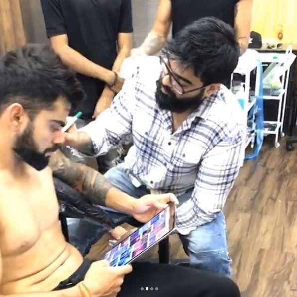 Virat Kohli Visits Mumbai Tattoo Studio For Consultations See Pics