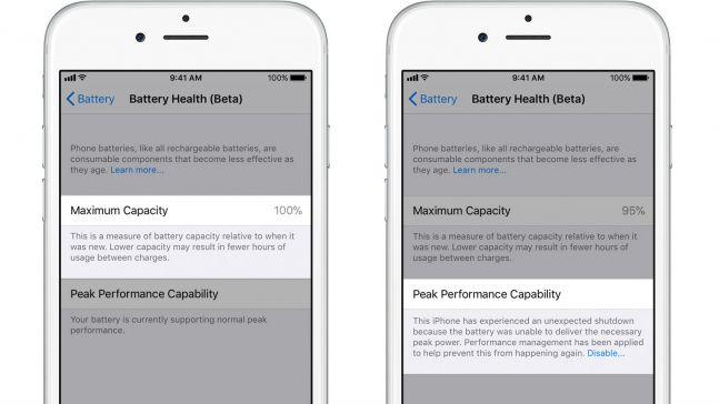 iOS 11 3 brings battery health, power management feature