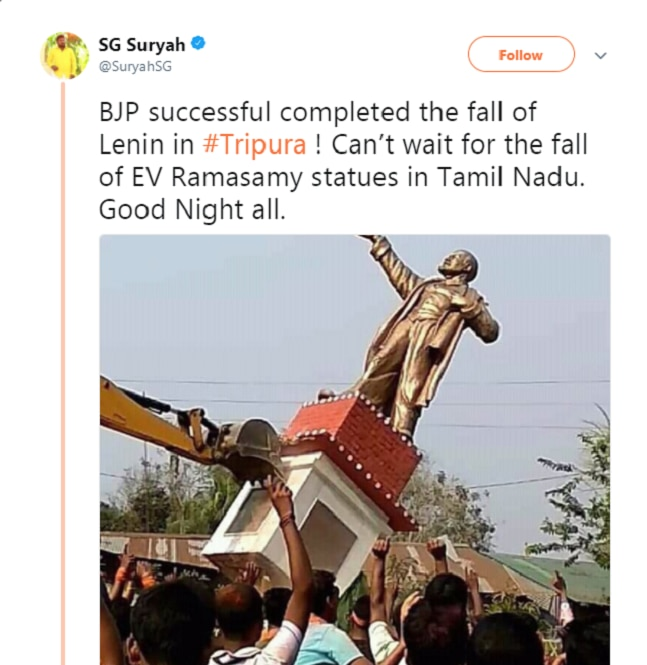 Modi denounces toppling Lenin's statues in Tripura