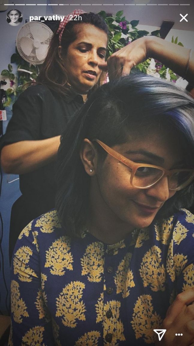 Actress Parvathy gets a new makeover, rocks the side buzz