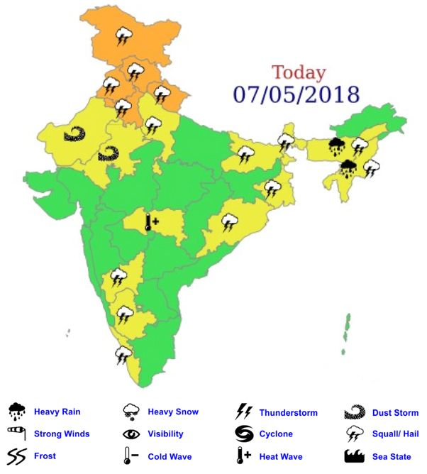 Thunderstorm Alert Updates Severe Dust Storm Hits Delhi Ncr Live