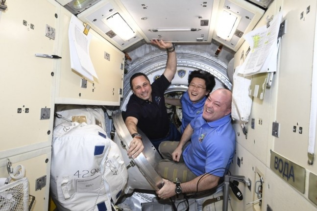 Trio of astronauts blast off to international space station